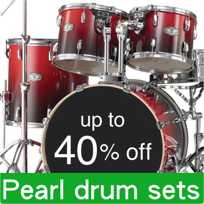 All drums 40% off.
