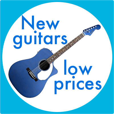New guitars, low prices.
