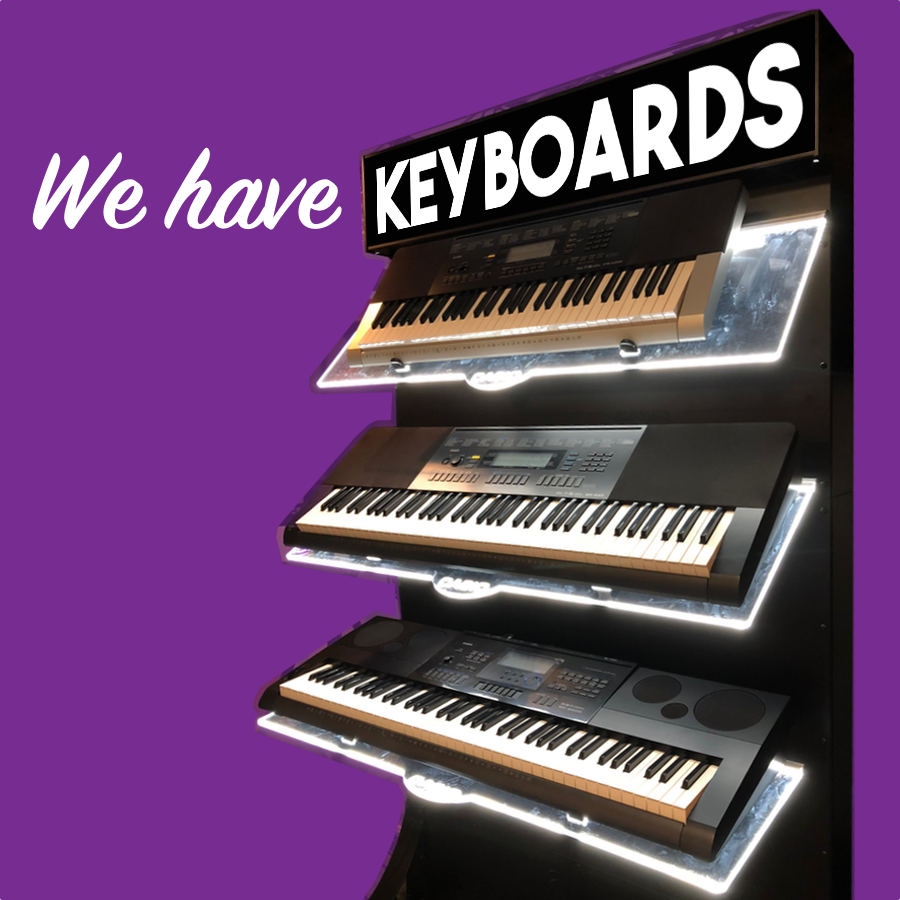 We have keyboards